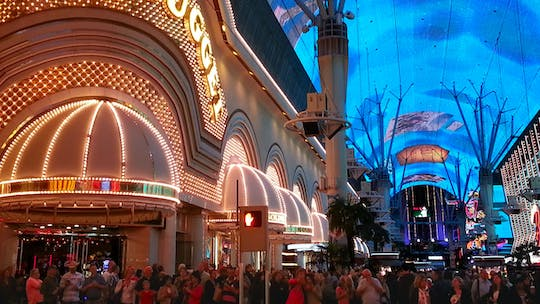 Downtown Las Vegas Fremont Street after dark