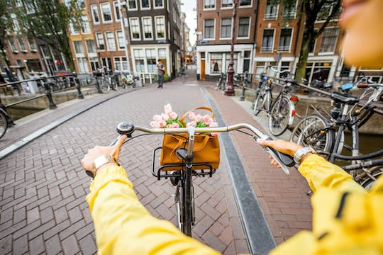 Amsterdam guided mini city bike tour