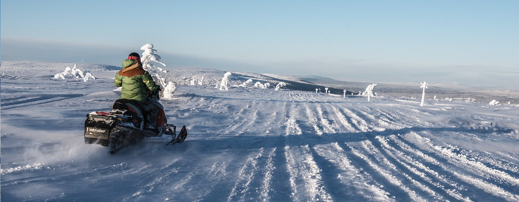 Guided snowmobile tour in Sälen