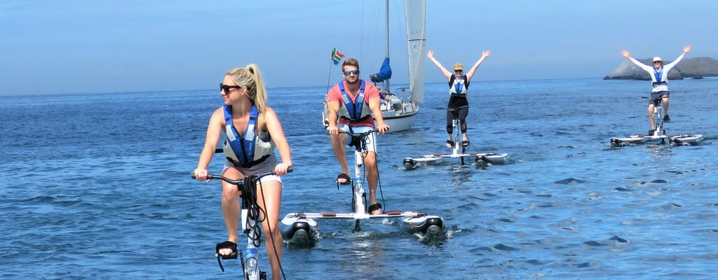 Aventura em bicicleta aquática na Cidade do Cabo