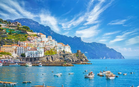 Amalfi coast private boat excursion from Praiano
