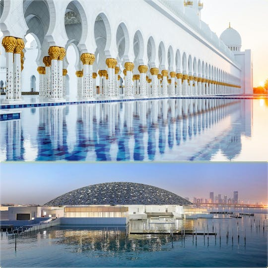 Abu Dhabi Louvre Museum and Sheikh Zayed Grand Mosque day trip from Dubai