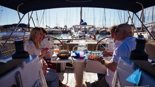 Sunset sailing boat experience with aperitif