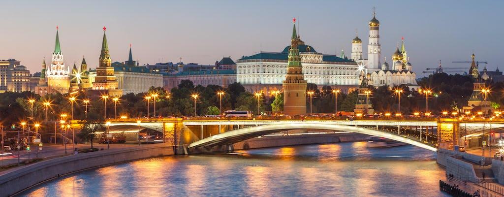 Bustour durch Moskau bei Nacht