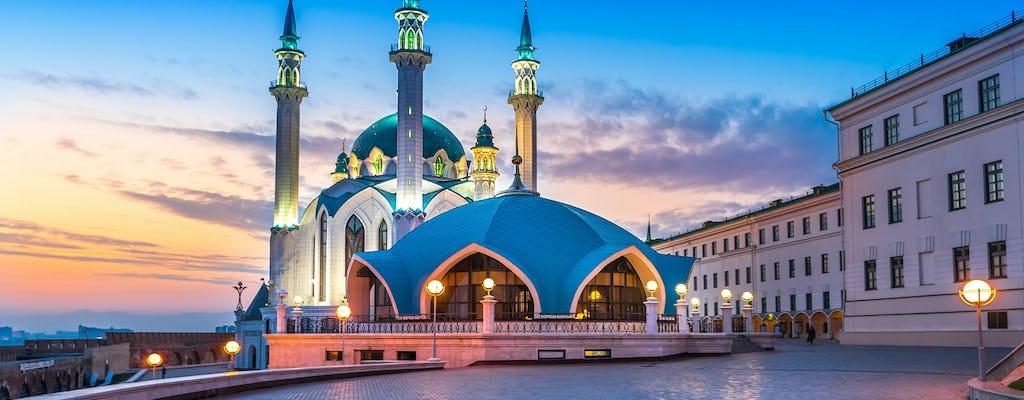 Avond excursielichten van Kazan