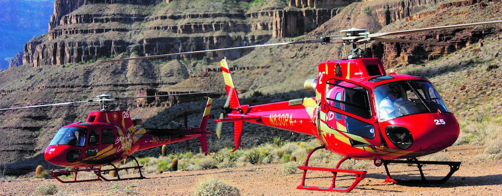 Tour in bus, barca ed elicottero del Grand Canyon West Rim con accesso alla Skywalk