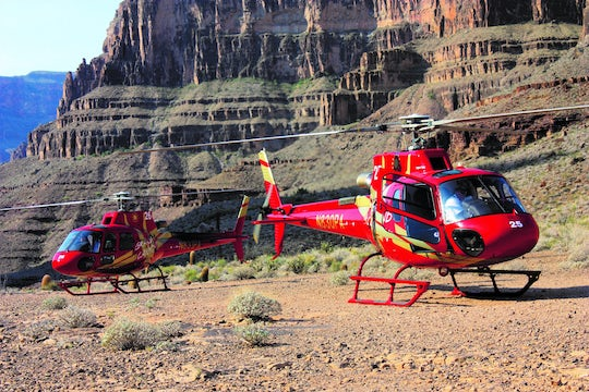Grand Canyon West Rim by luxury limo van with helicopter and skywalk tickets