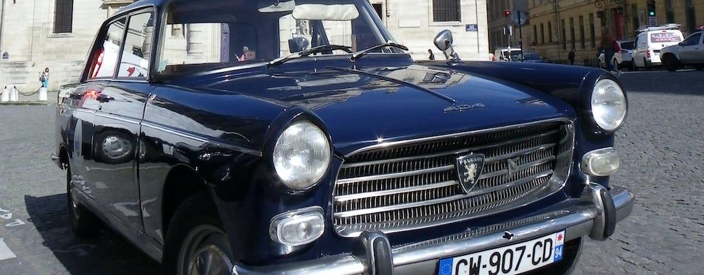 Visite guidée de Paris rive gauche en voiture de collection