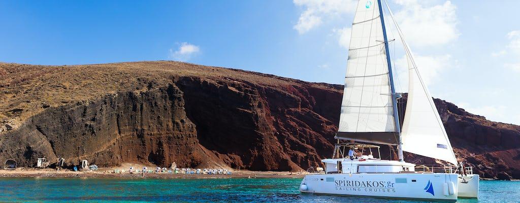 Luxuriöses Segel mit Grill von Santorini