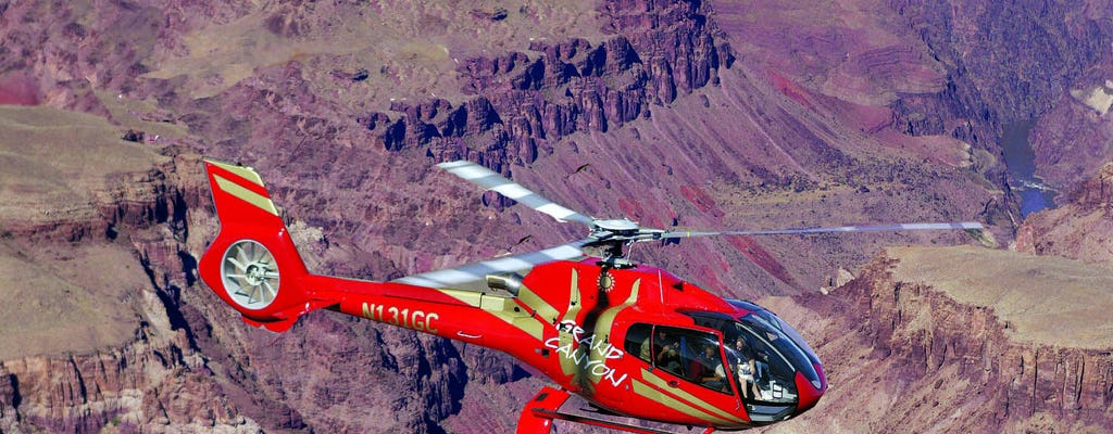 Tour del South Rim del Grand Canyon con volo in elicottero