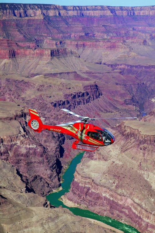 Grand Canyon South Rim bus tour and helicopter ride