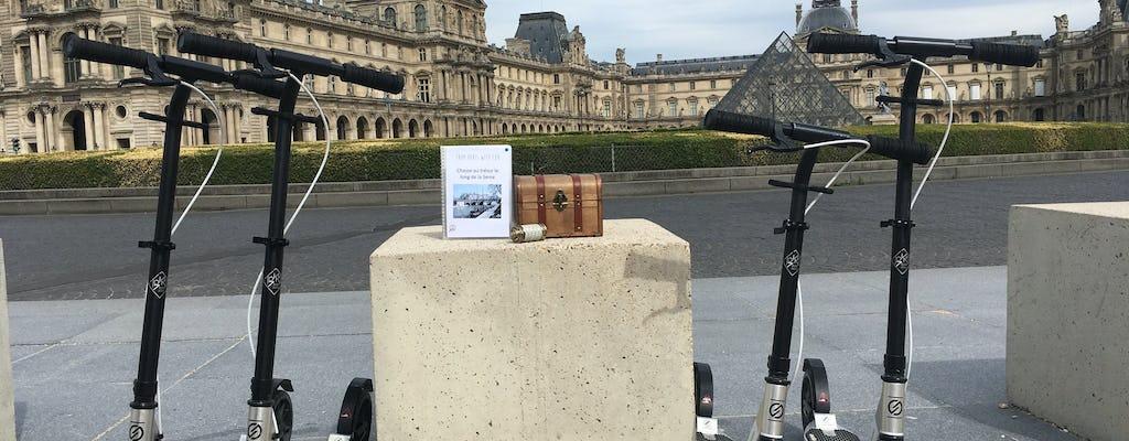 Caccia al tesoro su uno scooter non elettrico a Parigi