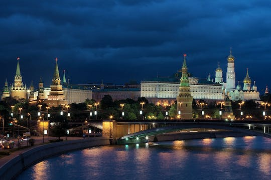 Private bus tour of Moscow by night