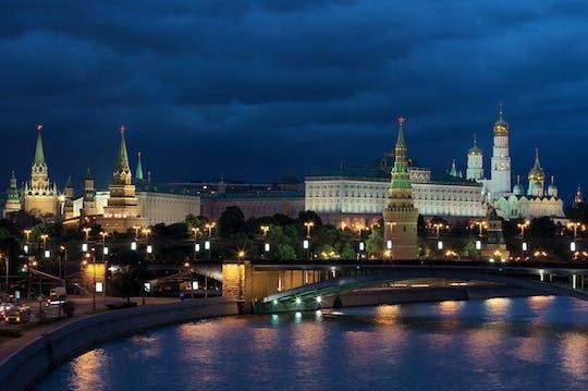 Tour privato in autobus di Mosca di notte