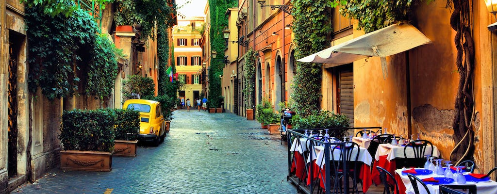 Hidden Rome food tour in Trastevere with dinner and wine tasting