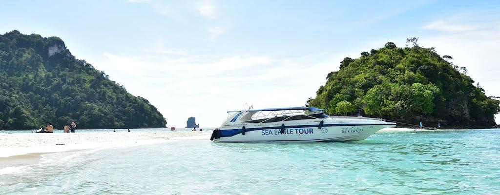 Tour en lancha rápida por 4 islas desde Krabi con almuerzo