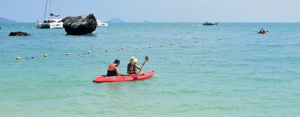 Experiencia de kayak y esnórquel en Hong Island en barco desde Krabi con almuerzo