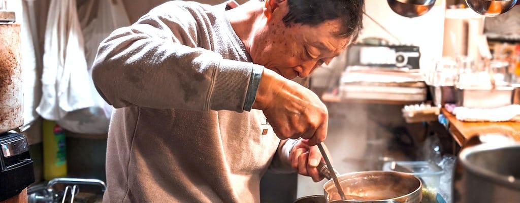 Tour privado da história da comida no Japão