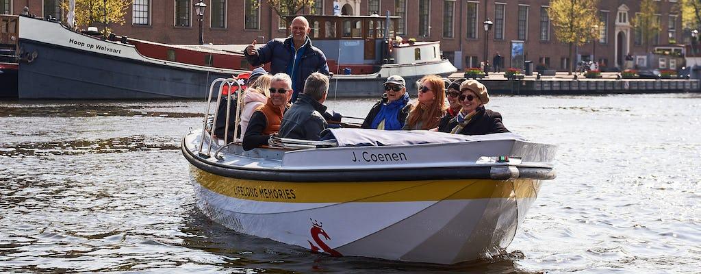 Amsterdam excursión en barco abierto desde Damrak Pier 5