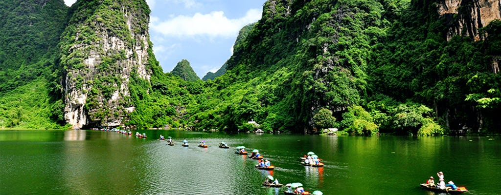 Tour de día completo por la antigua capital de Tam Coc y Hoa Lu