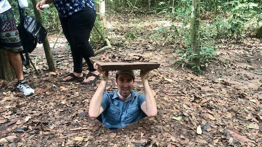 Full-day Cu Chi tunnels and Cao Dai temple tour