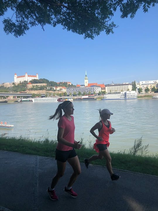 Running tour of Bratislava with a local