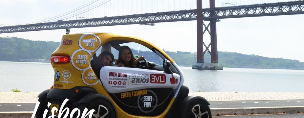 Lisbon riverside tour in an electric vehicle with GPS audio guide
