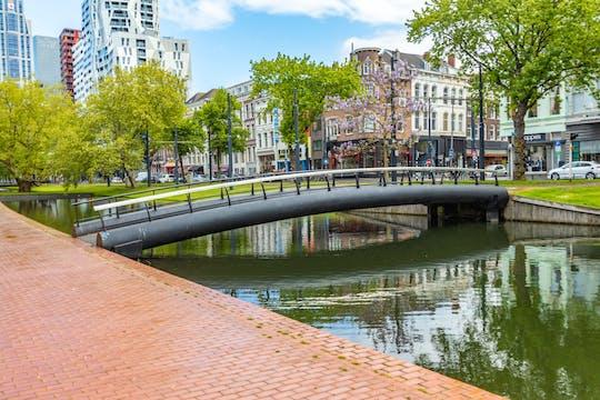 Promenade historique de Rotterdam avec un local