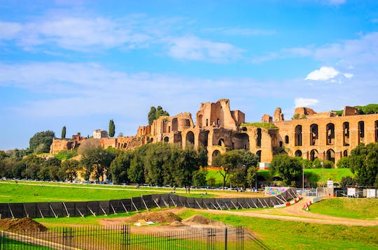 Hop on panoramic tour of Rome by open bus
