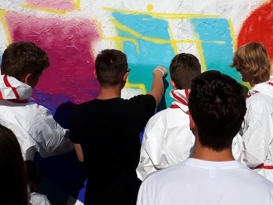 Mauerpark Berlin: open graffiti workshop