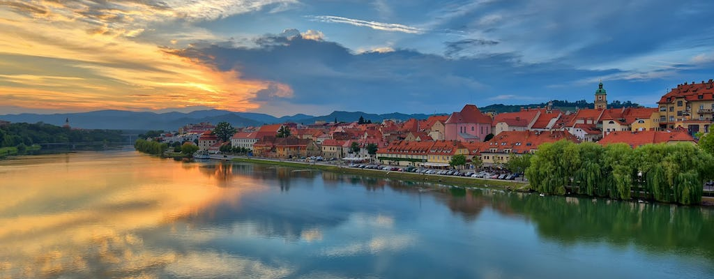Panoramic flight over Maribor in a hot air balloon from Bled