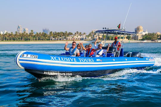 Dubai Marina, Atlantis and Burj Al Arab speedboat tour