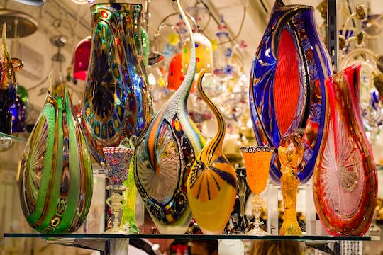Glass factory tour in Murano island