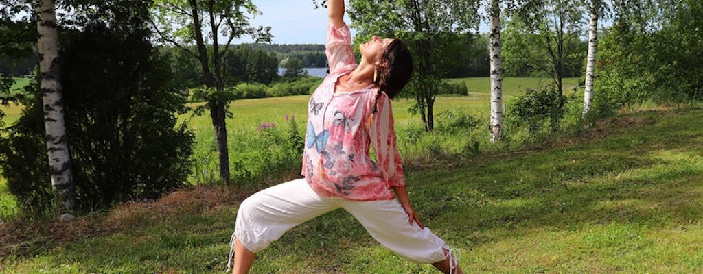 Countryside yoga in nature at Varjola