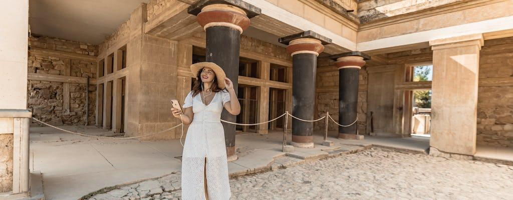 Bilet elektroniczny bez kolejki do najważniejszych minojskich atrakcji w Heraklionie i dwie wycieczki audio
