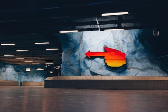 Underground metro art ride with a Local in Stockholm