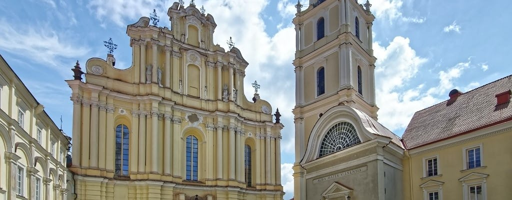 Promenade architecturale de Vilnius avec un local