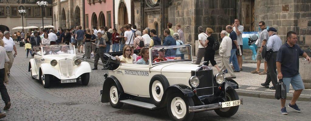 Old timer vintage car tour of Prague