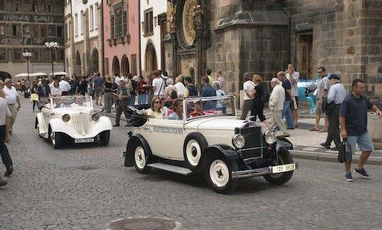 Old timer vintage car tour of Prague