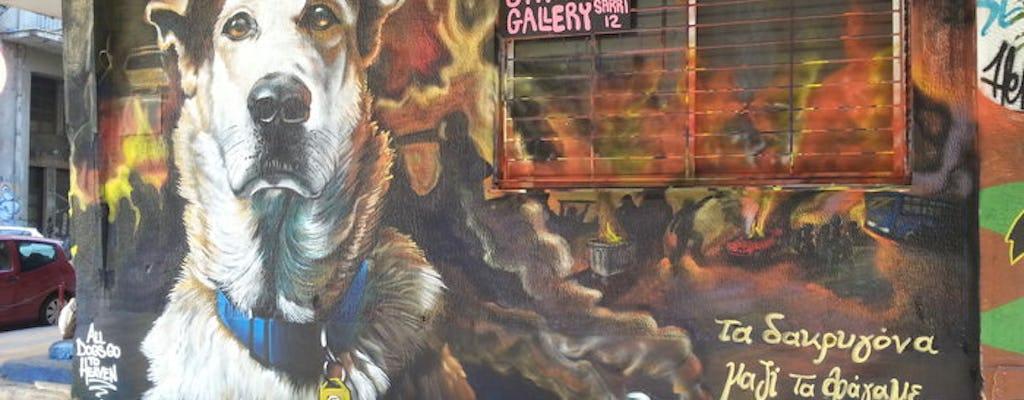 Tour della street art di Atene per piccoli gruppi