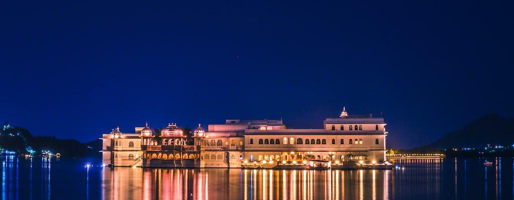 Radtour um den See in Udaipur