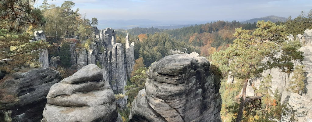 Bohemian Paradise hiking tour with Prachov Rocks and carnival row location