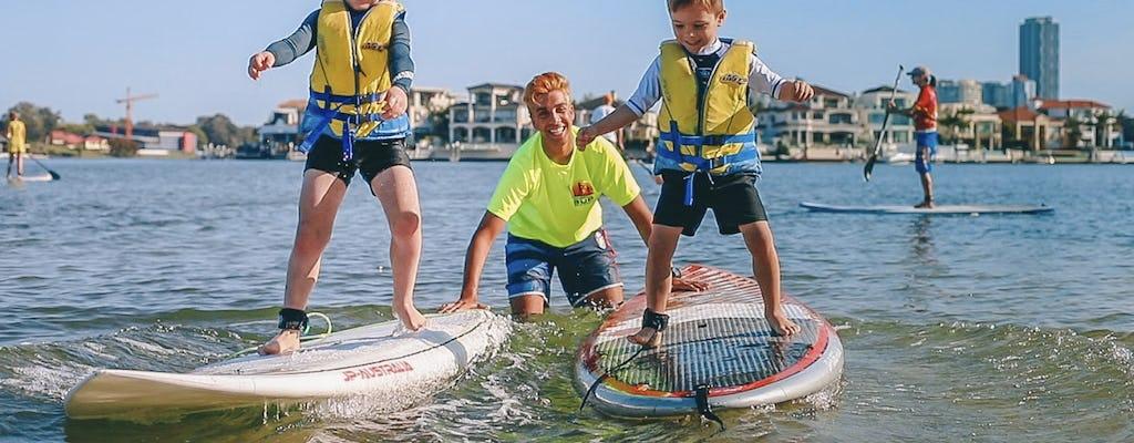 Leçon pour débutants en stand up paddle (SUP)