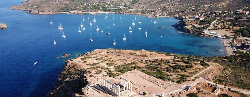 Tour al atardecer por el templo de Poseidón y el cabo Sunión