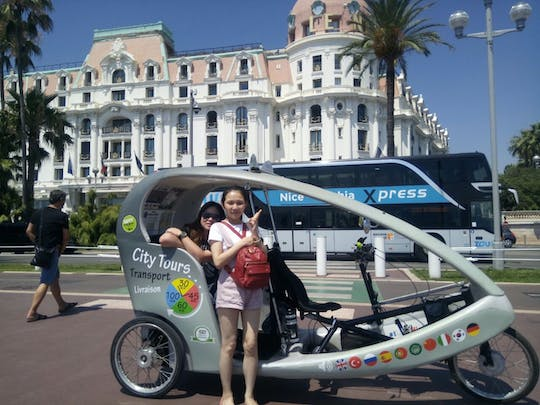 A 1.5-hour private electric rickshaw ride in the French Riviera
