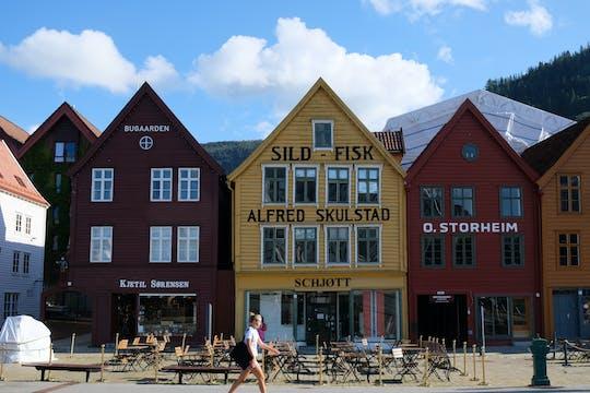 Visite à pied de Bergen du passé et du présent