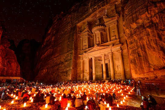 Petra day and night private tour from Aqaba