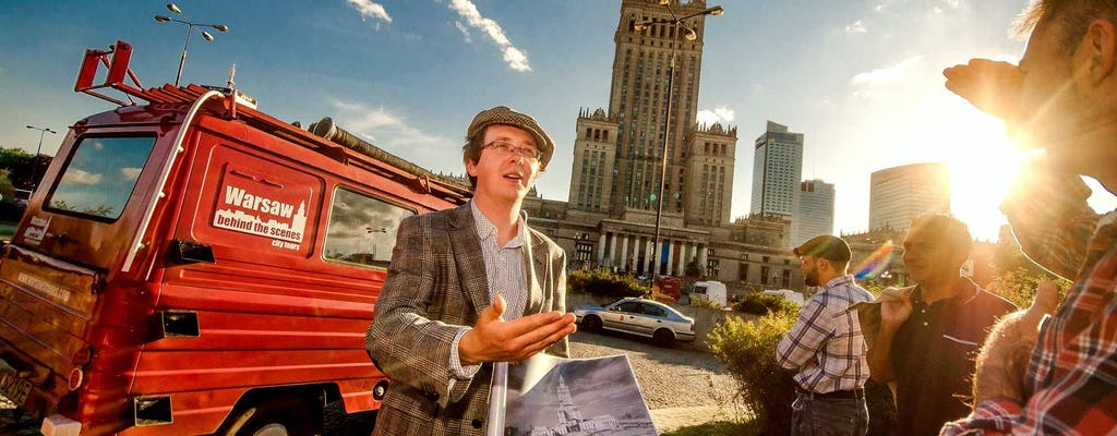 Warsaw Behind the Scenes tour by retro minibus