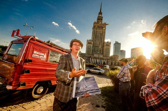 Warsaw Behind the Scenes tour by retro minibus