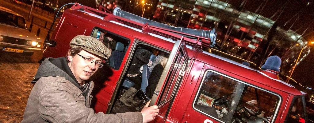Wieczorna wycieczka w małej grupie po Warszawie minibusem w stylu retro